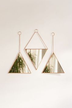 Shop Triangle Mirror Set at Urban Outfitters today. Living Room Designs, Living Room Decor, Bedroom Decor, Mirror Bedroom, Bedroom Ideas, Cute Dorm Rooms, Cool Rooms, Cheap Home Decor, Diy Home Decor