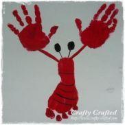 Hand and Footprint Lobster {Preschool Craft Activities}