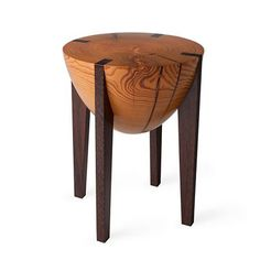 at first I thought this was a table, but its a stool. I think it would be really cool as a table too. Wood Furniture, Modern Furniture, Furniture Design, Banquettes, Upholstered Rocking Chairs, Cool Bar Stools, Wood Images, Modern Ottoman, Low Stool