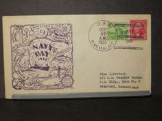 USS CACHALOT SS-170 Naval Cover 1935 RICHELL NAVY DAY Cachet