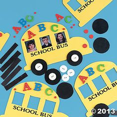 school bus crafts -but they sponge paint the bus yellow on white cardstock bus outline. FIRST DAY OF SCHOOL CALENDAR IDEA