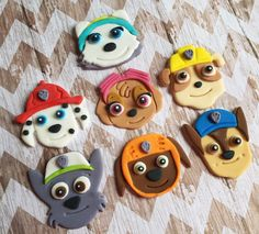 Only place your orders if they are needed after June Fondant edible Paw Patrol pup cupcake toppers cake toppers Paw Patrol Cupcake Toppers, Cupcakes Paw Patrol, Torta Paw Patrol, Paw Patrol Birthday Cake, Paw Patrol Pups, Paw Patrol Party, Fondant Cookies, Fondant Toppers, Cupcake Cakes