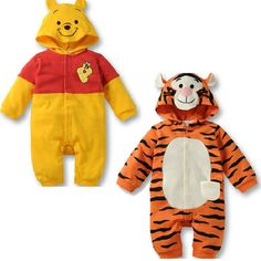 Baby romper jumpsuit Cartoon tiger baby animal costume new born baby girl clothes hooded suit infantil newborn clothing unisex #Affiliate