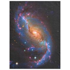 Barred Spiral Galaxy NGC 1672 Astronomy Picture Fleece Blanket #zazzle HightonRidley
