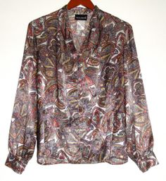 Paisley Button Up Top #clothing #paisley #buttonup #psychedelic