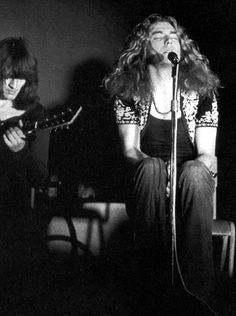 """firethatgrewsolow: """"John Paul Jones and Robert Plant, Wembley, 1971 Here's the one with Jimmy: """""""