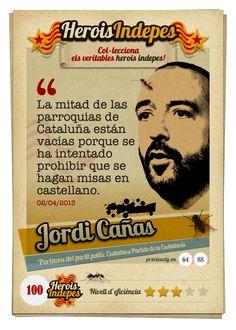 """#HeroisIndepes 100. Jordi Cañas: """"La mitad de las parroquias de Cataluña están vacías porque se ha intentado prohibir que se hagan misas en castellano."""""""
