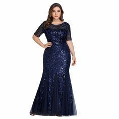 Plus Size Mermaid Dress Floor Length Long Dresses Summer Slim Short Sleeve Sequins Dresses Long Summer Dresses, Formal Dresses For Women, Elegant Dresses, Evening Dresses, Long Dresses, Plus Size Sequin Dresses, Khaki Dress, Party Gowns, Dresser