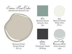 Exterior Paint Color Combinations | exterior Paint Color Combination..think this would ... | Color Pall...