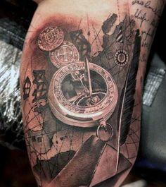 Tattoos Of Compasses On Men
