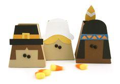 Pilgrims & Indians Treat Boxes
