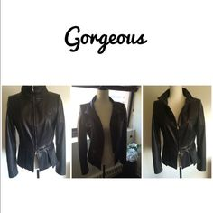 NWOT Gorgeous BOSS Hugo Boss leather jacket Extremely soft leather, decorative stitches, fitted and very form flattering. Never worn and really wouldn't want to part with it, but it has to go... Can't sell in bundle because of Posh fees, so please don't bundle this item. Price is firm 🍀 Boss Jackets & Coats