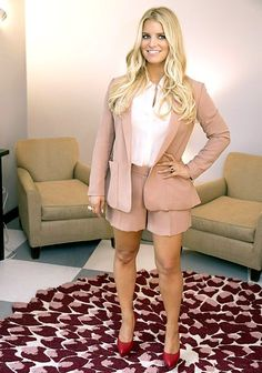 Jessica Simpson flaunts her slimmed-down figure in shorts and heels!... >>> Find out more about the great product at the image link.