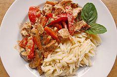 Mediterrane Gemüsepfanne mit Hähnchenbrustfilet 1