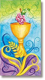 Gorgeous.  Celebration Banners  Stained Glass Chalice Banner  Item Number: LS769  Sale $49.99