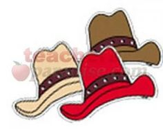 Western Hats Variety Designer Cut Outs from TeachersParadise.com | Teacher Supplies and School Supplies