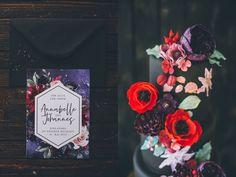 schwarze hochzeitstorte extravagant . Ultra violet pantone wedding Ultra Violet, Pantone, Wedding, Paper Mill, Extravagant Wedding Cakes, Black Wedding Cakes, Invitations, Wedding Bride, Valentines Day Weddings