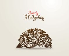 love swirly hedgehog art!