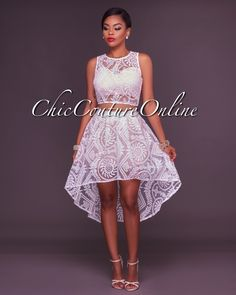 Chic Couture Online - Louisa Off-White Embroidery Lace Nude High Low Two Piece Set, (http://www.chiccoutureonline.com/louisa-off-white-embroidery-lace-nude-high-low-two-piece-set/)