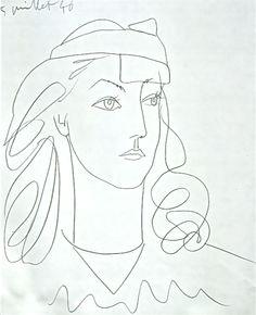 pablo picasso, 'francoise au bandeau' 1946