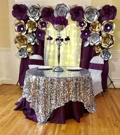 How to Make Wedding Decorations on a Budget – Sheer Curtain Backdrop with String Lights Quinceanera Decorations, Wedding Decorations On A Budget, Birthday Decorations, Silver Decorations, Paper Flower Backdrop, Paper Flowers, Sweet 16 Birthday, Birthday Parties, Birthday Diy