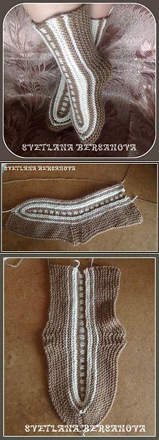 Интересное вязание - вяжем носки-исландцы. | Вязание крючком и спицами