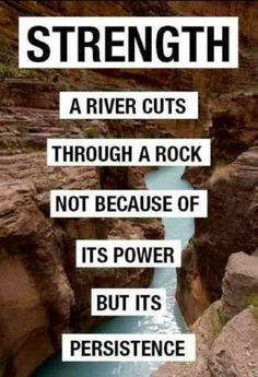 Strength A River Cuts Through A Rock