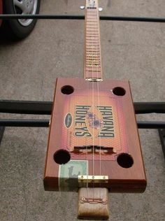 Home made 3 string Havanna Honey acoustic guitar
