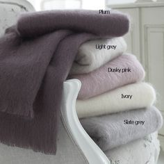 Mohair Throws Soft Natural Colours--Cologne & Cotton--BEDROOM--Blankets, Bedspreads & Quilts #Cologne & Cotton #Blankets, Bedspreads & Quilts