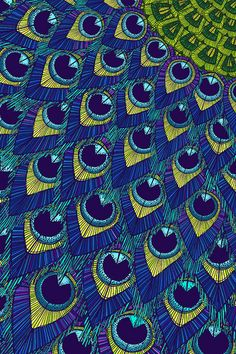 Peacock Ocean by Hello Angel Creative Peacock Colors, Peacock Art, Peacock Logo, Peacock Drawing, Peacock Fabric, Peacock Pattern, Peacock Feathers, Textures Patterns, Print Patterns