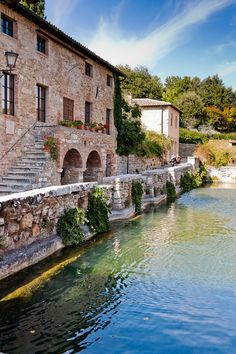 Bagno Vignoni ~The ancient village of Bagno Vignoni is located in the heart of Tuscany, in the Val d'Orcia Natural Park. Very near our San Polo Montalcino winery.