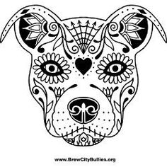 sugar skull dog - Google Search