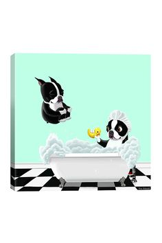 Bath Tub BT by Brian Rubenacker Canvas Wall Art on @HauteLook