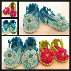 Crochet Pattern, Baby Booties Shoes Sandals for Baby, PDF 12-020 INSTANT DOWNLOAD on Etsy, $65.40