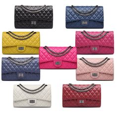 New Women Classic Womens Quilted Sheepskin Leather Chain Purse Shoulder Bag in Clothing, Shoes & Accessories, Women's Handbags & Bags, Handbags & Purses | eBay