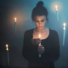 "((Open Rp)) ""It's pretty dark in here.."" I think to myself as I open my bag to find some candles ""Here's one.."" I pull it out and light it with my finger. I let the candle float around me as I keep walking around. رةزي تضيئ الشمعات مع لونا في الظلام"