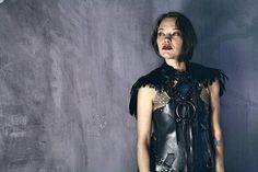 Dark Angel Costume / Wonder Woman Leather Armor / Feathered  www.RPDesignHouse.etsy.com #darkfashion #cosplay #costume #armor #leatherwork #leathertop #gothfashion