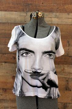 Eleven Paris Life is a Joke T-Shirt Cara Delevigne NEW Medium White  #ElevenParis #GraphicTee