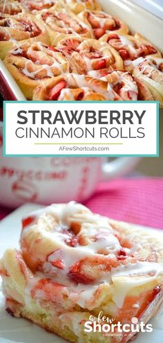 Strawberry Desserts Discover Strawberry Cinnamon Rolls Recipe - A Few Shortcuts A twist on a classic favorite! This delicious Strawberry Cinnamon Rolls Recipe is a keeper! Strawberry Cinnamon Rolls, Strawberry Desserts, Strawberry Breakfast, Strawberry Bread Recipes, Blueberry Recipes, Apple Recipes, Cinnabon, Mousse Dessert, Eat This