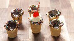 Ice Cream Cone Shot Glasses  - Delish.com