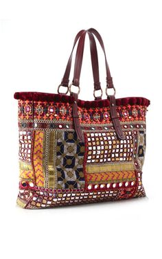 Matthew Williamson 'Banjara' Embroidered Tote   http://fashion-opolis.blogspot.in/2012/09/stylish-passage-through-india.html Ethnic Bag, Matthew Williamson, Coach Purses, Coach Bags, My Bags, Purses And Bags, Fashion Bags, Boho Fashion, Boho Bags