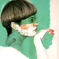 Paula Bonet Paula Bonet, Watercolor Whale, Pretty Drawings, Conceptual Art, Drawing People, Portrait Art, Cool Artwork, Illustration Art, Fine Art