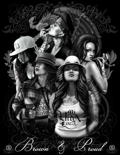 Cholos Cholas Calaveras Marihuana Catrinas Charras Payasa Payasos Azteca Art Gangster Drawings, Chicano Drawings, Chicano Tattoos, Chicano Art, Art Drawings, Aztecas Art, La Art, Religious Tattoo Sleeves, Chola Girl