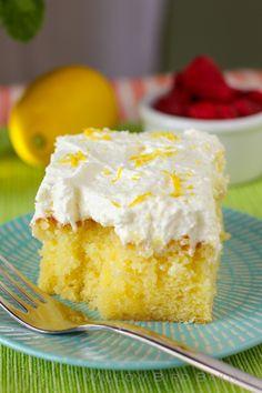 Drenched Lemon Cream Cake