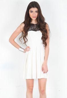 Ani Lee Gina Dress in Ivory/Black  $179