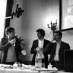 Facci,Cruciani,Parenzo e Abbate durante la rassegna stampa dal festival del giornalismo di Perugia