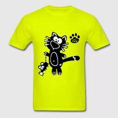 Catpaw Design Cat and Mouse Designer Shirt Art - Men's T-Shirt