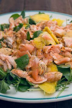 Romeu: Salada de salmão e manga