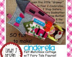 Fairy Tale MATCHBOX Cottage 6 FROZEN Felt Playset by LindyJDesign