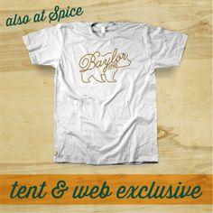#Baylor Cursive Bear t-shirt